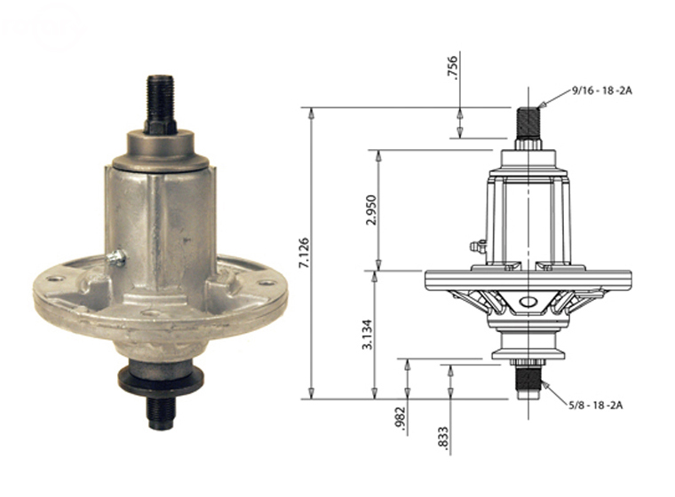 12910 SPINDLE ASSEMBLY FOR JOHN DEERE
