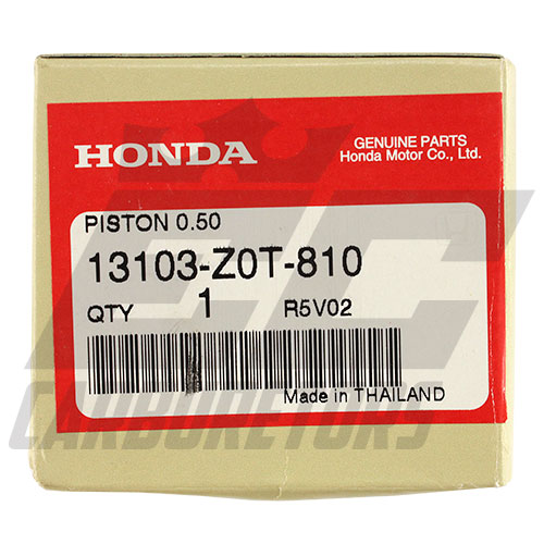 13103-Z0T-810 OEM Honda Flat Top +.50mm Piston 68mm Bore