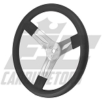 "68-001 15"" Black Steering Wheel"
