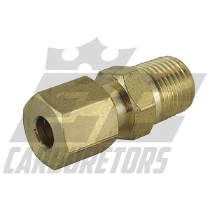 68A-3A Brake Fitting Straight Brass Flare 1/8NPT