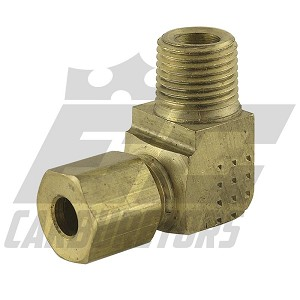 69A3A Brake Fitting Brass 90° Flare 1/8NPT